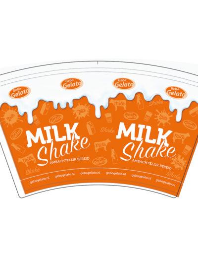 GEBO Milkshakebeker plat