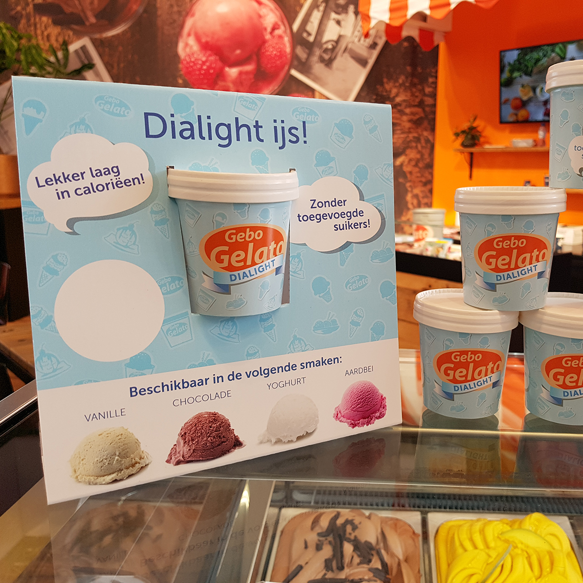 Gebo Gelato Dialight Display Horecava
