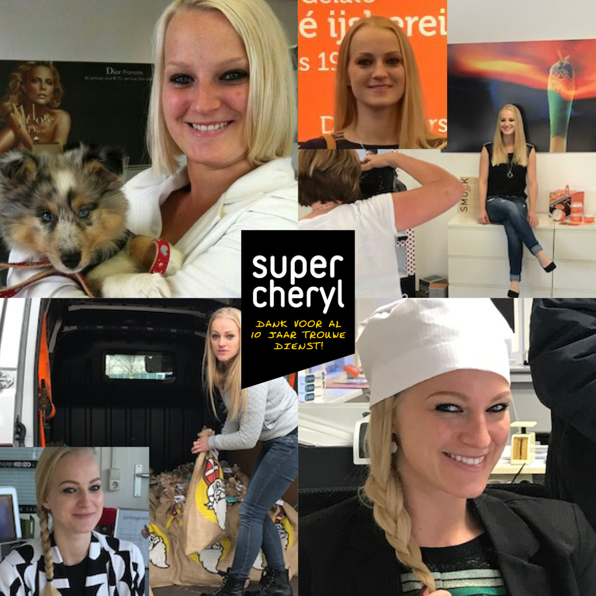 Cheryl & Reklamesuper 10 jaar samen!