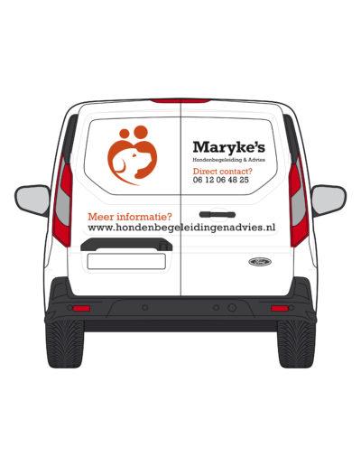 Maryke Ford Transit achterzijde