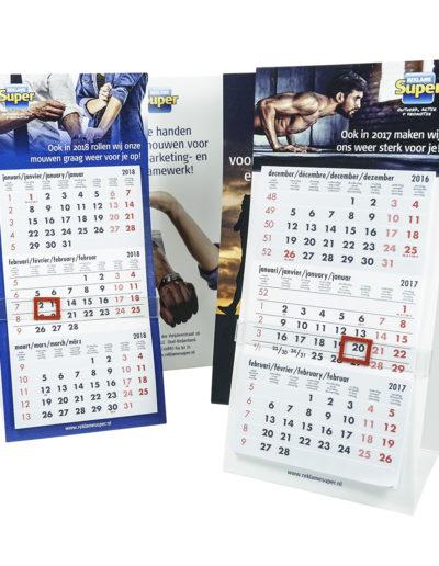 Reklamesuper kalenders oude logo