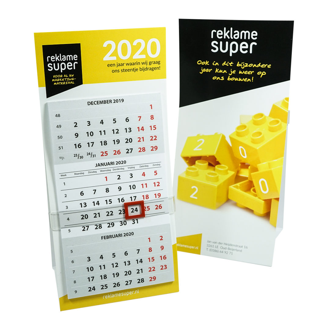 Reklamesuper bureaukalender